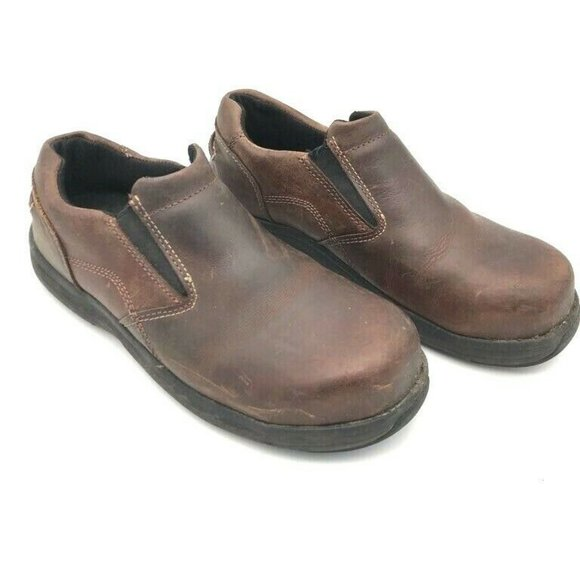Hush Puppies Shoes - Hush Puppies Womens Leather Loafer Shoes Brown